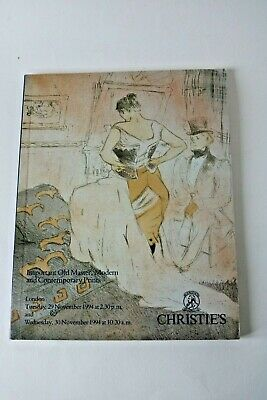 Christies London Important Old Master, Modern & Contemporary Prints Auction 1994