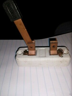 Antique Leviton Porcelain Copper Toggle Switch