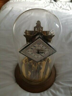 Kern Anniversary Clock 400 day torsion mantel clock spares or repairs dome & key
