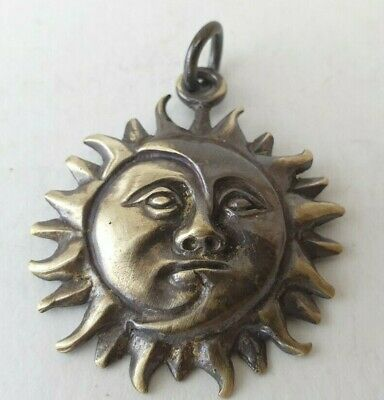 The Sun  Ancient  Roman Bronze-in original style  Amulet  medallion Thracian