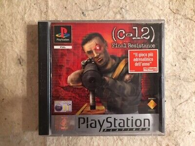 C12 Final Resistance Sony Playstation 1 Ps1 Pal Platinum Usato Italiano