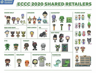 Funko pop ECCC shares Exclusives PREORDERS + .55mm pop protectors