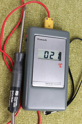 VINTAGE 1980s COMARK DIGITAL THERMOMETER No.3007 WITH SURFACE PROBE
