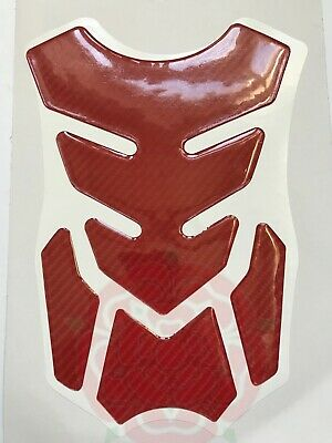 Red Carbon Look Motorcycle Tank Pad Protector # Motorbike Spine Oxford