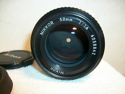 NIKON NIKKOR 50mm 1:1.4 # 4058842 Lens  Very Nice Condition