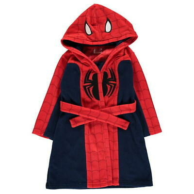 Spiderman:dressing Gown/Robe,Gorgeous,3/4,5/6,7/8,9/10Yr, Nwt