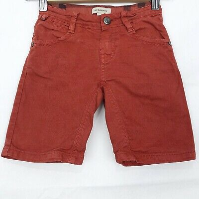 BURBERRY Jean Shorts Age 5 Years In Red Boys Zip Fly Casual Smart Summer