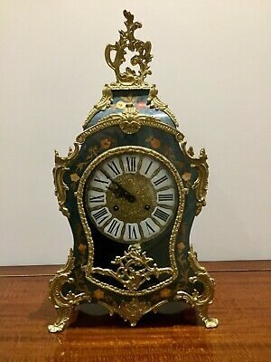 Vintage Style French Antique Louis XV Boulle Style Mantel Clock Franz Hermle