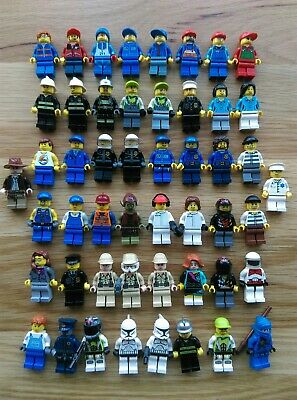 HUGE 50 x LEGO Minifigure Joblot Bundle inc City Ninjago Fire Police Star Wars
