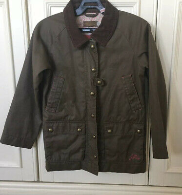 Girls Little Joules Wax Style Jacket Coat 8 Years Vgc