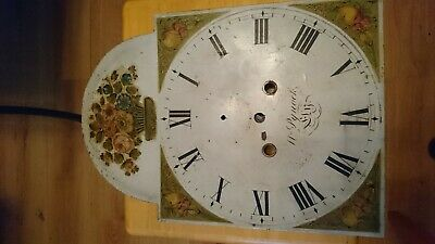 Antique longcase painted dial