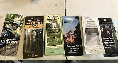 Maps,Lincoln National Forest, White Mountain Wilderness, Ruidoso Area Trail Map