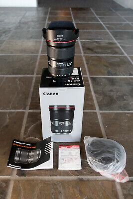 Canon EF 16-35mm f/2.8 L III USM Zoom Lens - Box, Manual, Lens Case & Protector