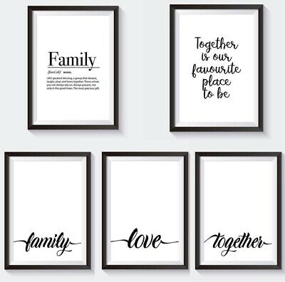 Set of 5 Modern Wall Art Prints  For Home Living Room Bedroom - Minimalist Decor