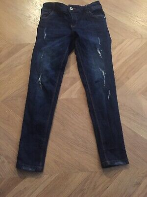 Girls Blue Zoo Dark Denim Jeans Age 10