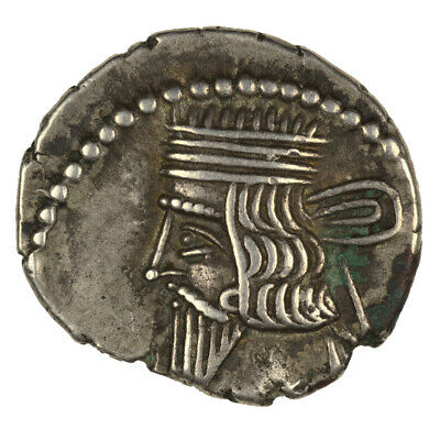 Kings of Parthia Silver Drachm Vologases III VF