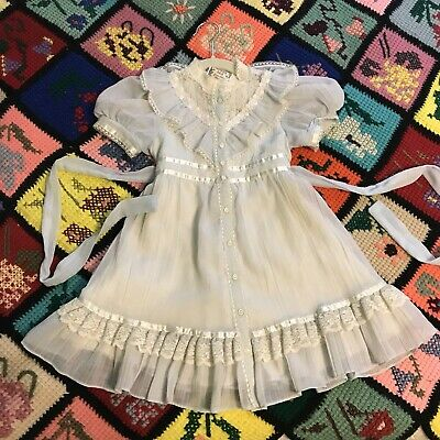 1980s Vintage Size 5 GUNNE SAX Sheer Victorian Childs Girl Floral 4t 5t 1970s