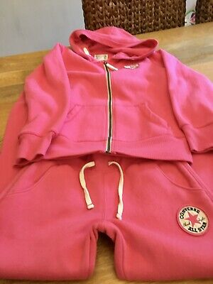 Converse Girls Tracksuit/ Tshirt Age 8-10 Years Small Fitting