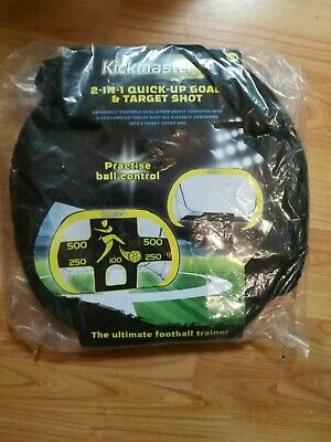 kickmaster 2 in 1 quick put up goal and target shot. New in packet