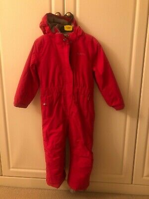 mountain warehouse girls pink 5-6 years snow suit