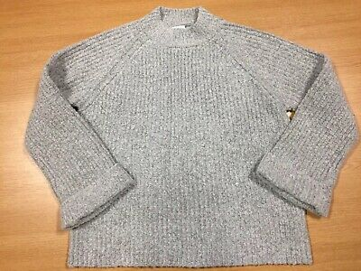 F&F Girls Grey Knitted Sweater, Age 9-10 Yrs, In Great Condition!