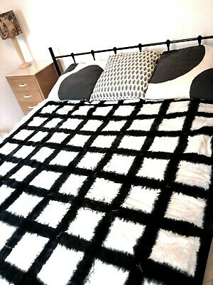 Laursen Quilt Striped Blue White 180x130cm Bedspread Cover Throw 0788-00