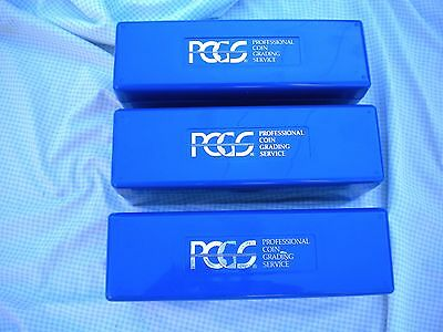 3 PCGS Plastic Storage Box for PCGS Slabbed Coins  Lot of Three