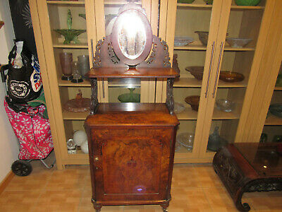 Victorian Bureau / Hall Cupboard With Mirror ... To Restore ...Collection Only