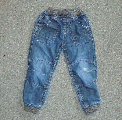 Boys Essential - Blue Jeans Shabby Ripped Well Worn Style - Size 3-4 Yrs - Ac8