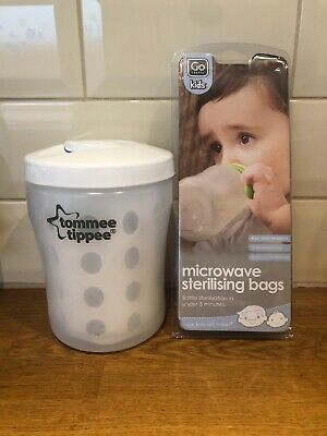 Tommee Tippee Closer to Nature Travel Steriliser A& 7 Microwave Bags