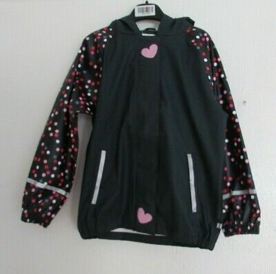Nwt Navy Spot Detail Shower Resistant Girls Coat Age 6/8 Years