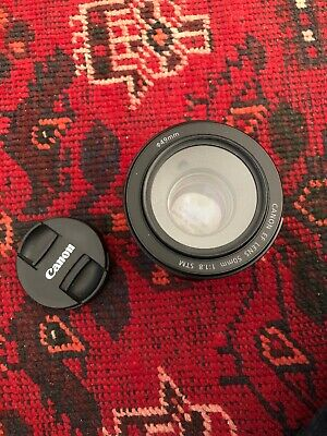 Canon EF 50mm f/1.8 STM lens Clean With Filter