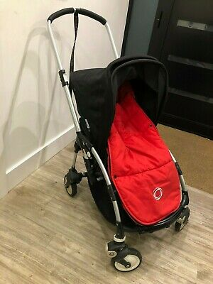 Bugaboo Bee Folding Pushchair with Red Footmuff