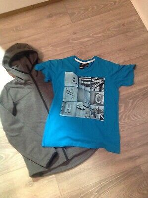 Boys Bench T Shirt And Sweat Jacket Age 11-12