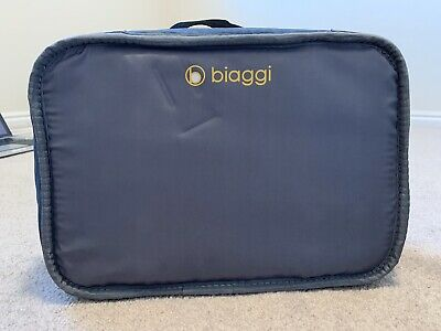 """Biaggi ZIPSAK 22"""" MICRO-FOLD SPINNER CARRY ON Blue/aqua Excellent Condition"""