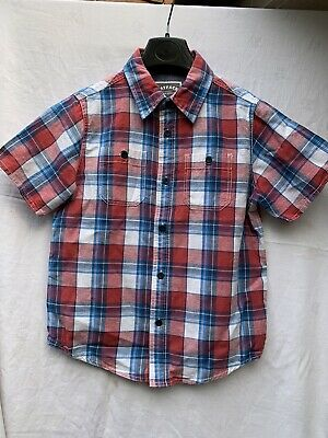 Fat Face 8-9 yr boys Red/Blue checked Short sleeved buttoned Shirt NWOT bargain