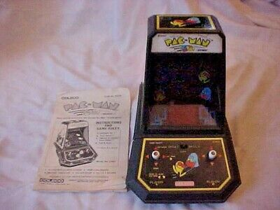 Vintage COLECO Midway PAC-MAN Table Top Mini Arcade Game 1981 - Works