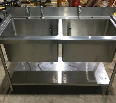 Industrial stainless steel Double sink unit