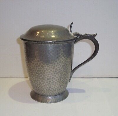 Antique Howard Pewter Tankard Walker Hall Sussex County Golf Union Arts Crafts