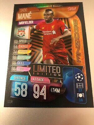 Match Attax Extra 2019/20 Sadio Mane Bronze Limited Edition Le2B Mint