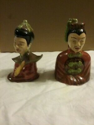 Vintage Asian Man And Woman Figurines