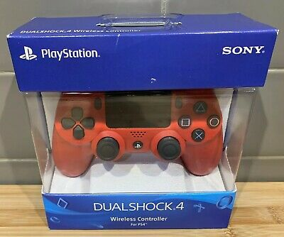 Official Sony PlayStation 4 PS4 Dualshock 4 Wireless Controller Magma Red - NEW