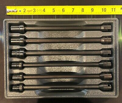 """SNAP ON 6-Piece 3/8"""" Drive 6-Point Metric Swivel Extension Socket Set 10-15mm"""
