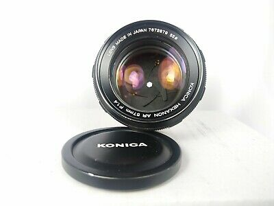 *Used* Konica Hexanon 57mm f/1.4 Lens (Konica AR Mount) with Hood (Please Read)
