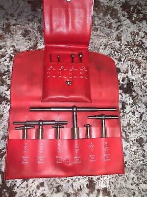 """Starrett S579H Telescoping 6pc Indicator Micrometer 5/16"""" to 6"""" Small Hole Gages"""