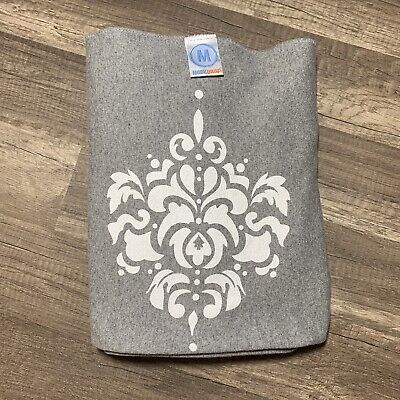 Moby Wrap Baby Carrier Gray with Tribal Floral Design 8 - 35 lbs
