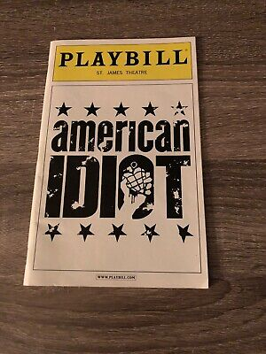 American Idiot Playbill Featuring Billie Joe Armstrong St. James Theatre NYC