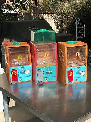 (3)  Victor Vending  Baby Grand  Gumball Peanut Machines