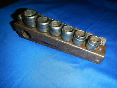 "Vintage 1/2"" HEX DRIVE SOCKET SET HEX MADE IN USA"