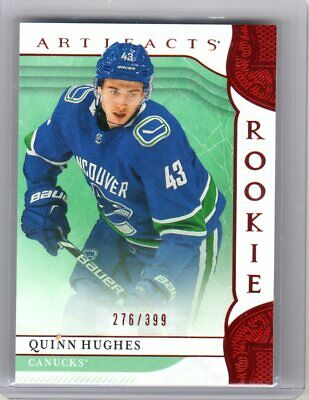 2019-20 UD Upper Deck Artifacts QUINN HUGHES Rookie RC #276/399
